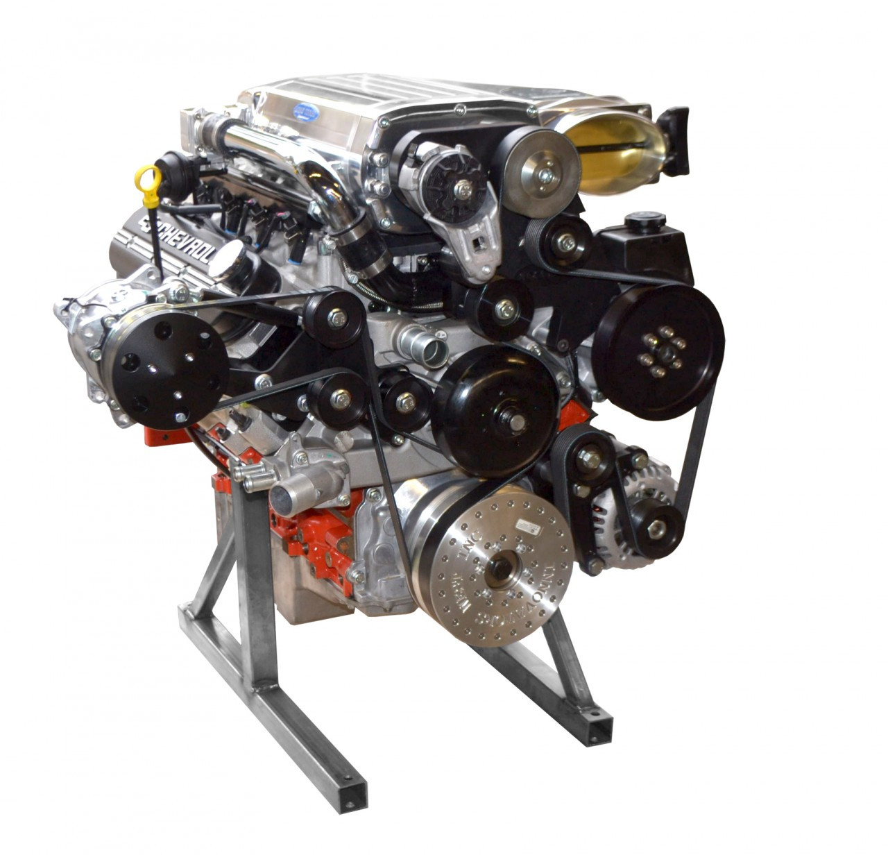 Supercharged Ecotec Engine: LSX 454ci 880 HP Supercharged Turn Key Engine Assembly