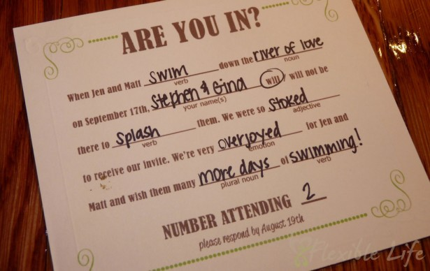 Tips on your wedding rsvps tales from a bride to be for Wedding rsvp cards filled out