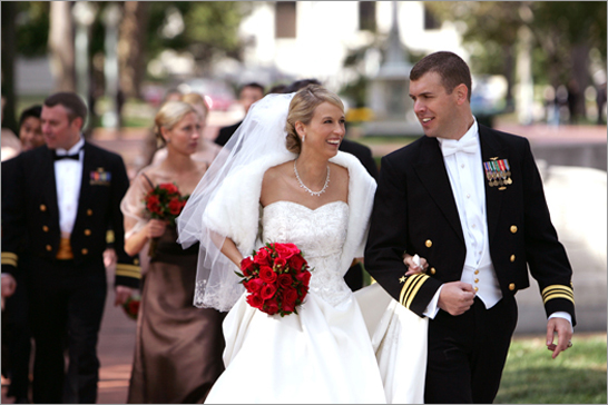 Military Wedding Gown