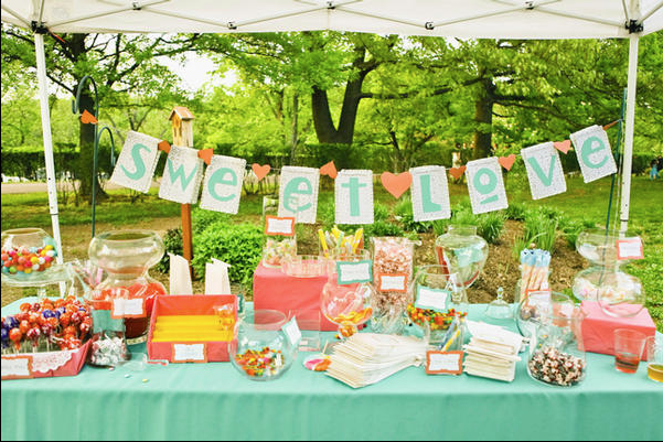 Wedding Candy Buffet Tables Are A Sweet Option pun Intended MyWedStylecom