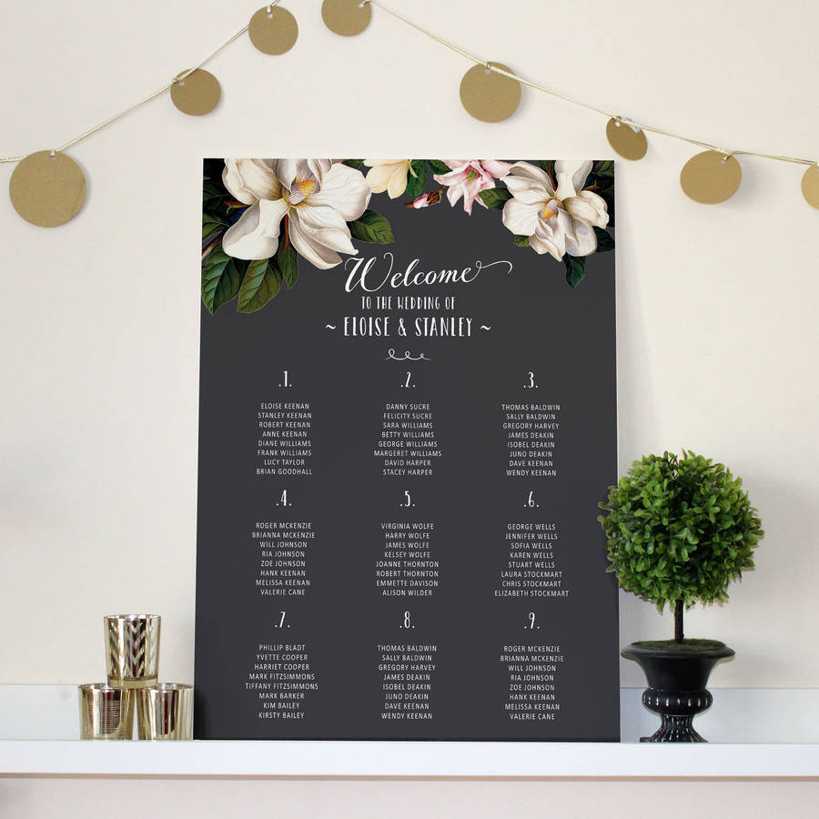 seating arrangements for wedding