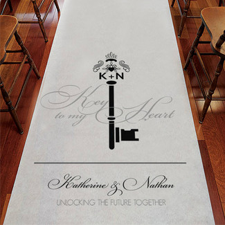 Key Monogram Personalized Aisle Runner