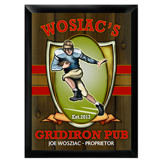 Personalized Gridiron Pub Sign