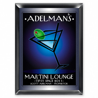 Personalized After Hours Martini Lounge Sign