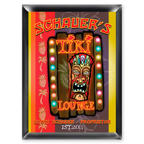Personalized Tiki Lounge Sign