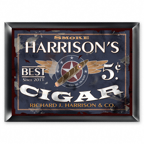 Personalized Patriot Cigar Pub Sign