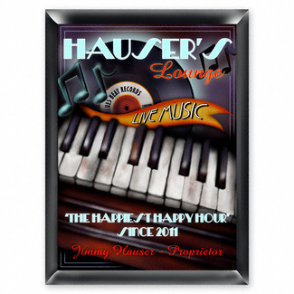 Personalized Piano Lounge Sign