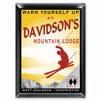 Personalized Ski Lodge Pub Sign