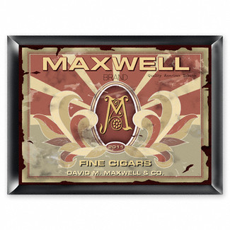 Personalized Monogram Cigar Pub Sign