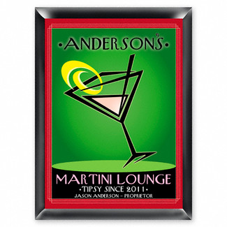 Personalized Cosmo Martini Lounge Sign