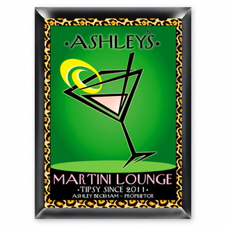 Personalized Cosmo-Chic Martini Lounge Sign