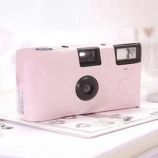 Pink Disposable Cameras