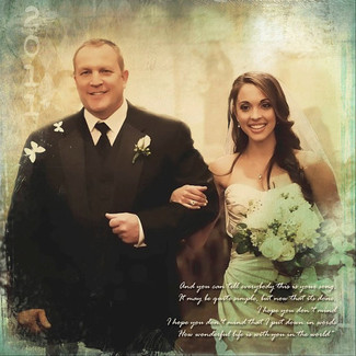 Father of the Bride Photo Art
