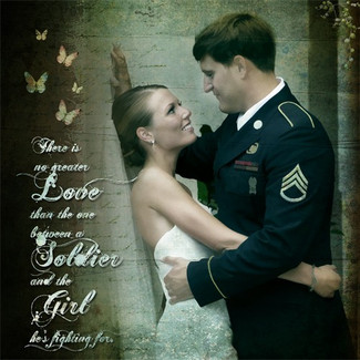 Military Wedding Gift Photo Art