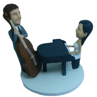 Musical Couple Wedding Cake Topper