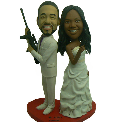 Mr. & Mrs. Smith Wedding Cake Topper