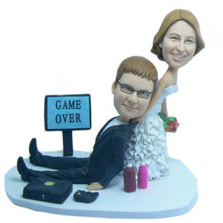 Game Over Wedding Cake Topper