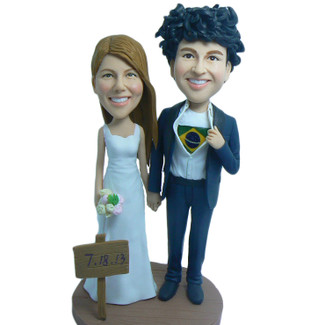 Logo Couple Wedding Cake Topper