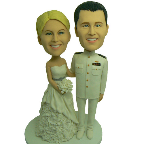 Military Couple Wedding Cake Topper