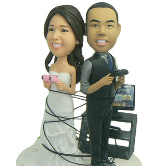 Wrapped Up In Games Cake Topper