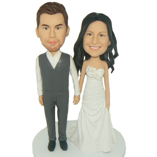 Holding Hands Wedding Cake Topper