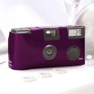 Purple Disposable Camera