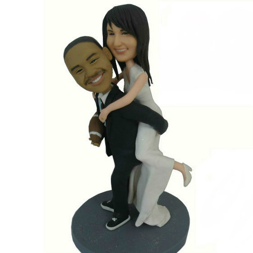 Groom Carrying Bride Cake Topper