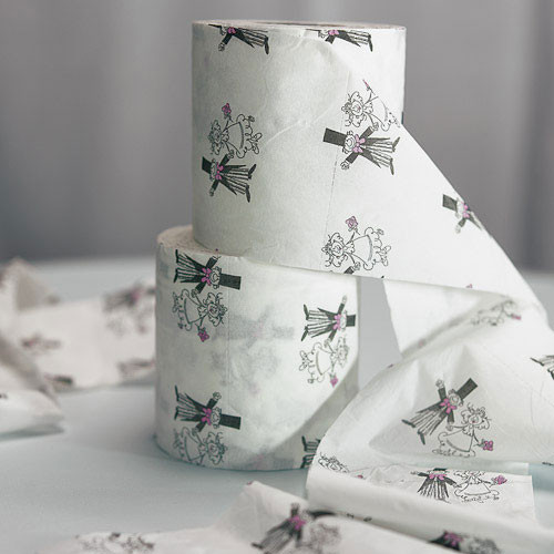 Bride & Groom Cartoon Toilet Paper
