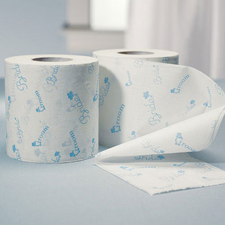 Something Blue Wedding Toilet Paper