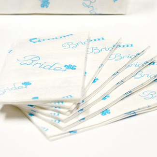 Something Blue Wedding Tissues