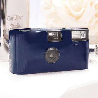 Navy Blue Disposable Camera