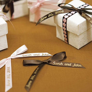 PERSONALIZED WEDDING FAVOR RIBBON ACCESSORY