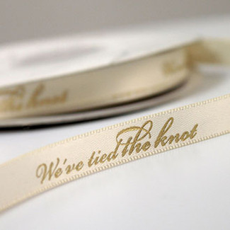 We've Tied The Knot Ribbon