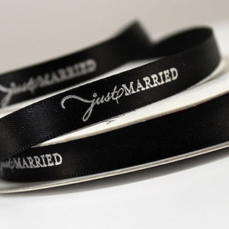Just Married Ribbon for DIY bride