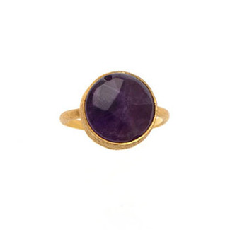 Antika Single Stone Adjustable Rings - Purple