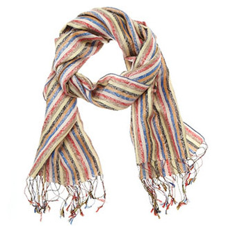 Scarves - Silk Striped