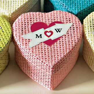 HEART STICKER FOR THE WOVEN WEDDING FAVOR BOXES
