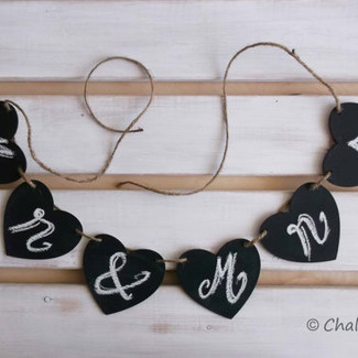 Chalkboard Banner Mr. & Mrs.