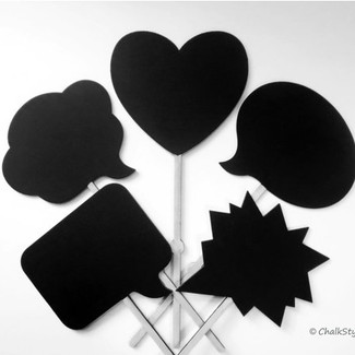 5 Chalkboard Photo Booth Props
