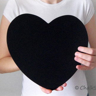 2 Heart Chalkboard Photo Props