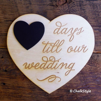 Days Till Wedding Countdown Chalkboard