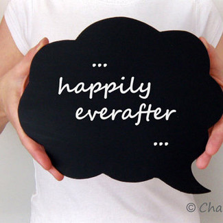 Cloud Chalkboard Speech Bubble