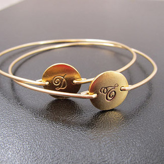 Fancy Cursive Gold Initial Bracelet