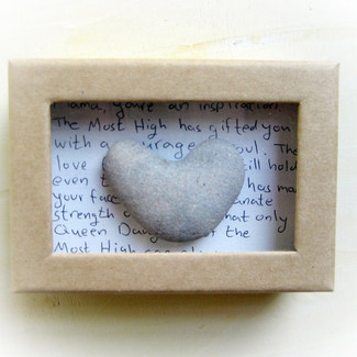 Unique Wedding Card with Heart Rocks