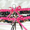 Fuchsia Pink Camouflage Wedding Garter Set