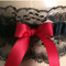 Red and Black Lace Wedding Garter