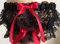 Red and Black Lace Wedding Garter Set