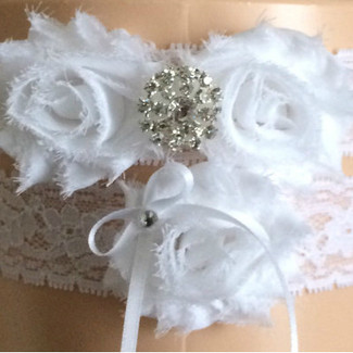 White Lace Wedding Garter Set