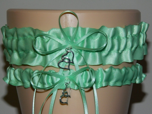 Mint Green Wedding Garter Set