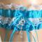 Turquoise Lace Wedding Garter Set